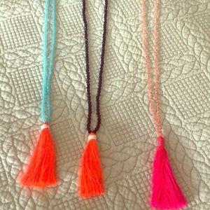 J crew 3 tassel necklaces